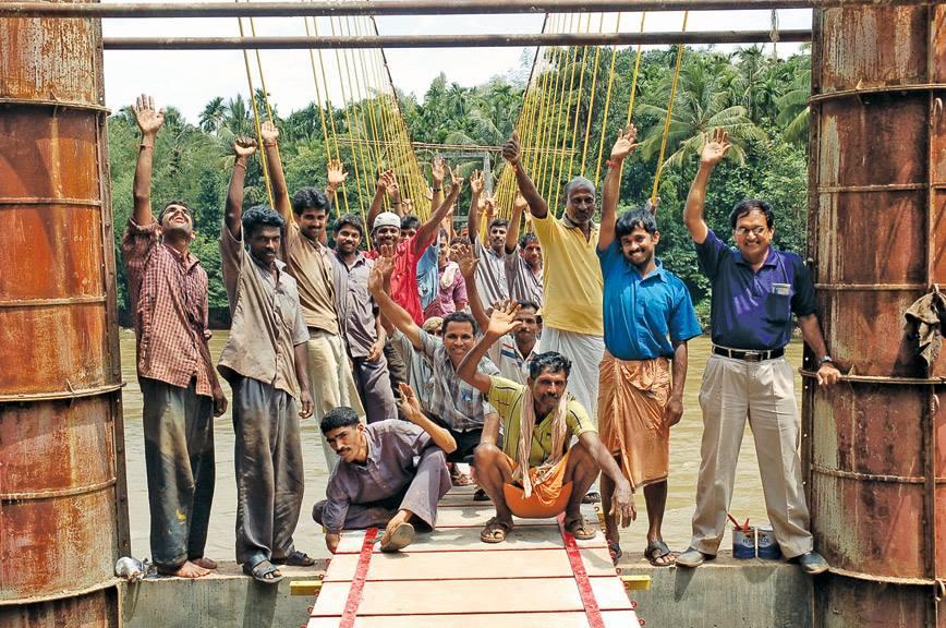 Girish Bharadwaj Hanging Bridge Man